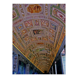 Ceiling in Corridor Leading to Sistine Chapel Poster