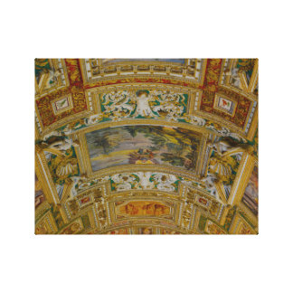 Ceiling in the Vatican Museum in Rome Italy Canvas Print