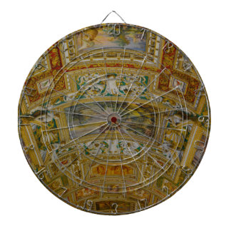 Ceiling in the Vatican Museum in Rome Italy Dartboard