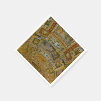 Ceiling in the Vatican Museum in Rome Italy Disposable Napkin