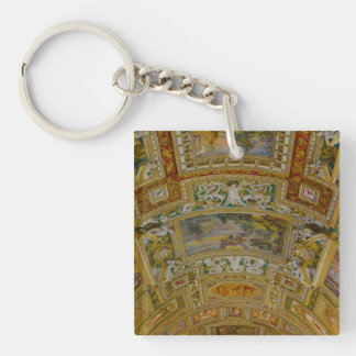 Ceiling in the Vatican Museum in Rome Italy Single-Sided Square Acrylic Keychain