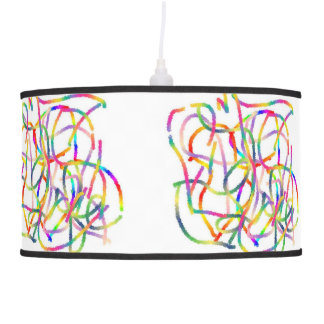 Ceiling Lamp with Rainbow Lines