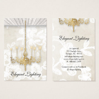 Ceiling Light Chandelier Wood Wallpaper Design Business Card