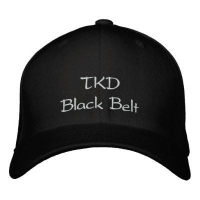 Ceinture noire de TKD Chapeaux Brodés
