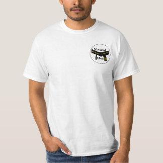Ceinture noire degré personnel d'arts martiaux de t-shirt