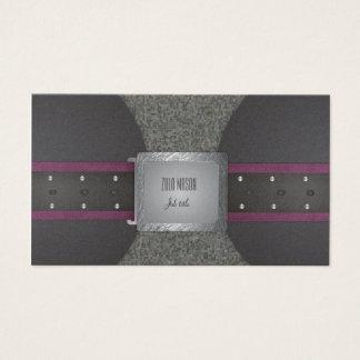 Ceinture pourpre et noire cartes de visite