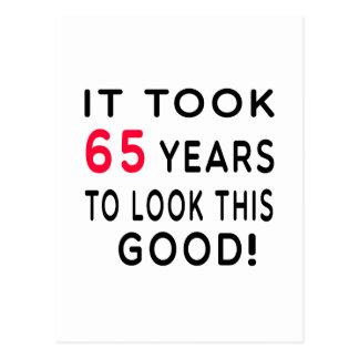 Cela a pris 65 ans de conceptions d'anniversaire cartes postales