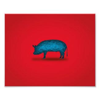 Cela fera le porc… impression photo
