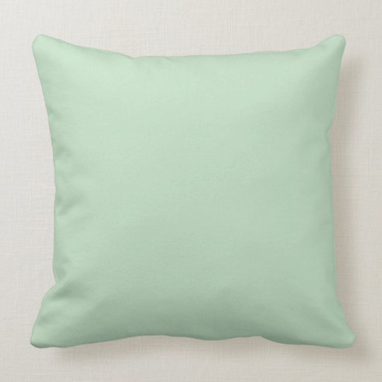 Celadon colour background throw pillow