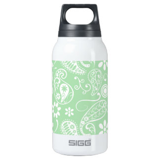 Celadon Paisley; Floral Insulated Water Bottle