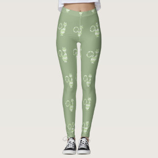 Celadon---Preppies-Diamond-Cat's_ LEGGING'S_XS-XL Leggings