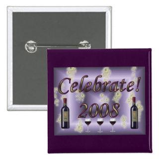 Celebrate 2008! 2 inch square button