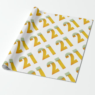 Celebrate 21st Birthday Wrapping Paper