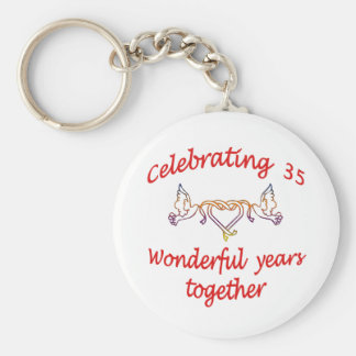 CELEBRATE 35 YEARS TOGETHER BASIC ROUND BUTTON KEYCHAIN