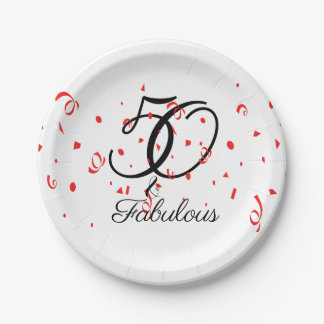 Celebrate 50 and Fabulous Birthday Paper Plate