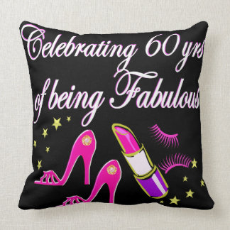 CELEBRATE 60 YEARS AS A FABULOUS DIVA THROW PILLOW