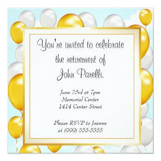 """Celebrate a Retirement 5.25"""" Square Invitation Card"""