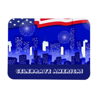 Celebrate America. 4th of July Gift Magnets