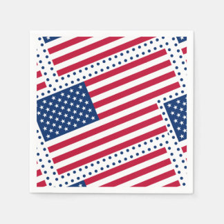 Celebrate American US Flag Paper Napkins