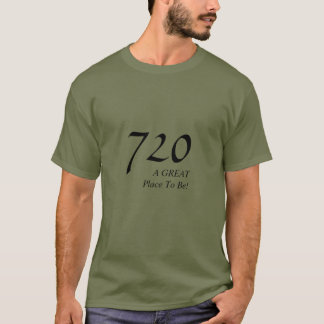 Celebrate Any Telephone Area Code, Denver, 720 T-Shirt