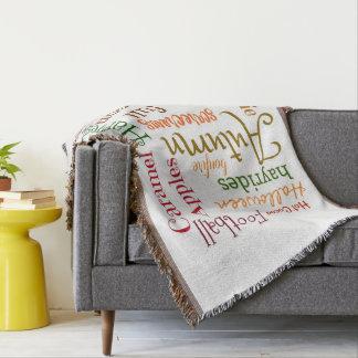 Celebrate Autumn Cozy Throw Blanket