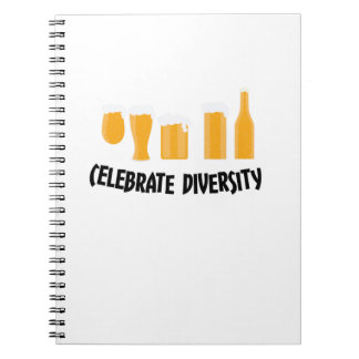 Celebrate Beer Diversity Funny  Drinker Gifts Notebooks