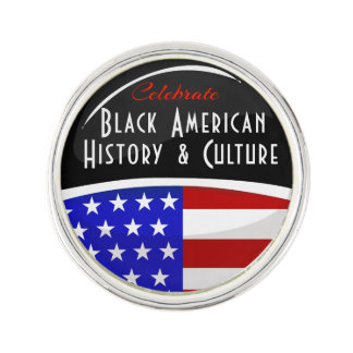 Celebrate Black American History Glossy Emblem Lapel Pin