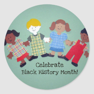 Celebrate Black History Month! #1 Classic Round Sticker