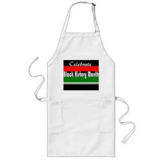Celebrate Black History Month Long Apron