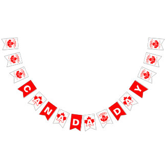 Celebrate Canada 150 Years Bunting Flags