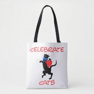 """Celebrate Cats"" Tote Bag"