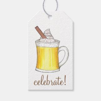 Celebrate! Christmas Holiday Egg Nog Gift Tags