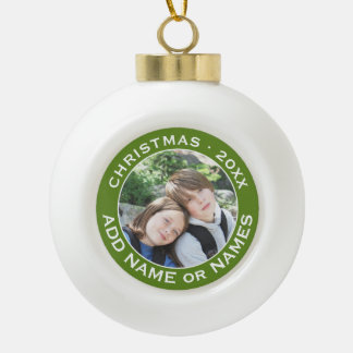 Celebrate Christmas with Your Favourite Photo Ceramic Ball Christmas Ornament
