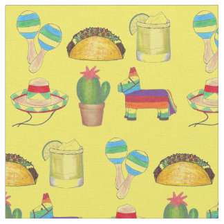 Celebrate Cinco de Mayo Mexico Mexican Print Fabric