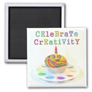 Celebrate Creativity Cupcake Photography Magnet