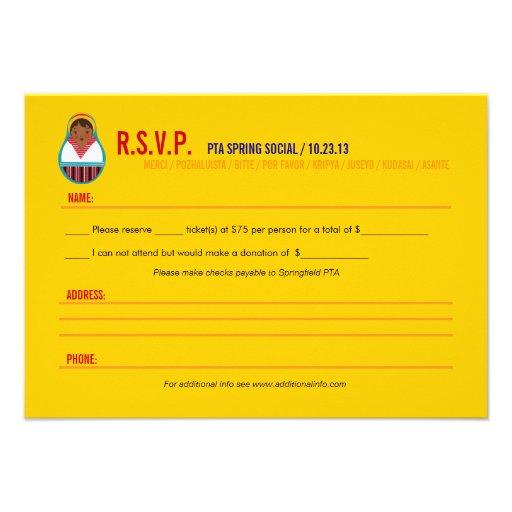 Celebrate Culture & Diversity Event RSVP Invitations