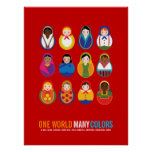 Celebrate Culture & Diversity One World Many Poster
