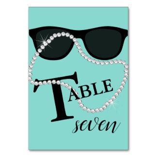 Celebrate Diamond Tiara Party Number Table Cards