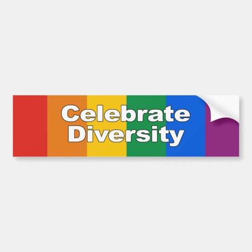 Celebrate Diversity 2 Bumper Sticker