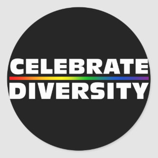 Celebrate Diversity Black Sticker