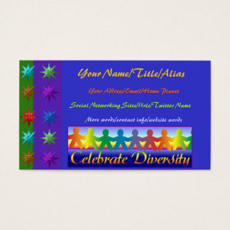 Celebrate Diversity Business Card