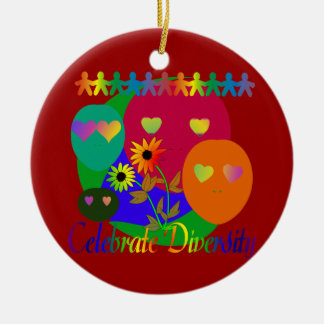 Celebrate Diversity Ceramic Ornament