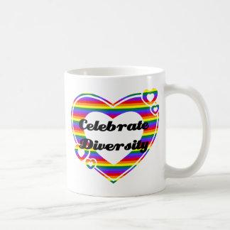 Celebrate Diversity Dark Text Mugs