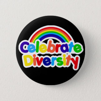 Celebrate Diversity Gay Pride Rainbow 2 Inch Round Button