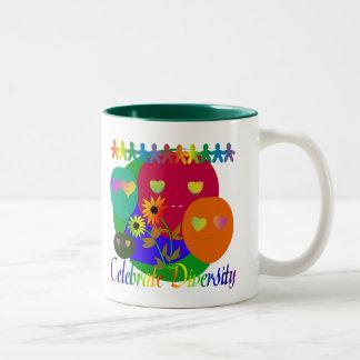 Celebrate Diversity Two-Tone Mug