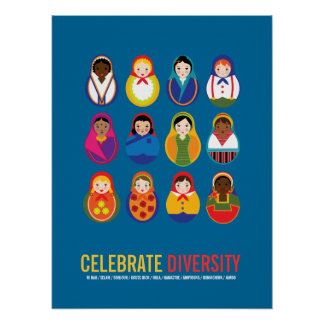 Celebrate Diversity Multicultural Day Poster