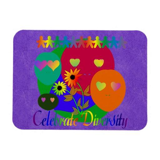 Celebrate Diversity Vinyl Magnet