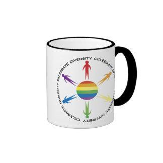 Celebrate Diversity Ringer Coffee Mug