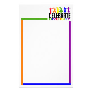 Celebrate Diversity stationary, customizable Stationery