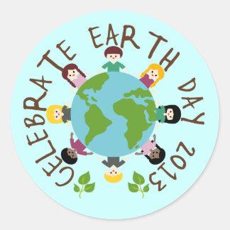 Celebrate Earth Day 2013 Round Sticker